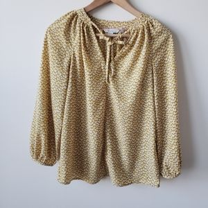 Boden yellow Polly peasant blouse size 2p